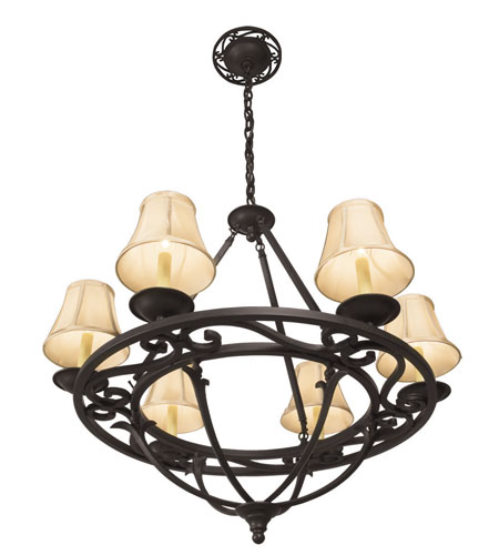 World Import Designs Jacobean 6 Light Chandelier in Rust 61814-42 photo