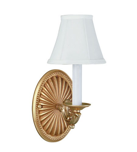 World Import Designs Signature 1 Light Wall Sconce in French Gold 6207-14 photo
