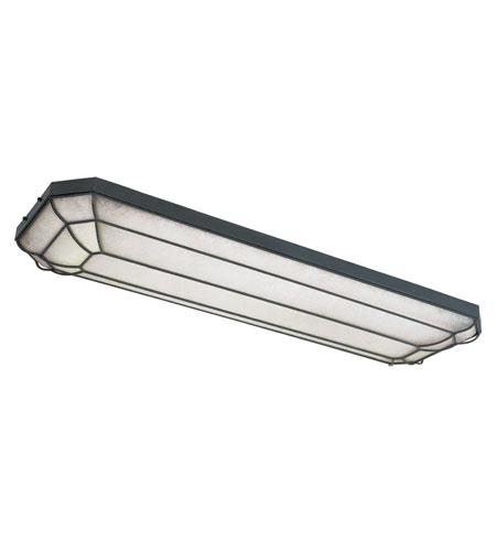 World Import Designs Fluorescent 4 Light Flush Mount in Rust 7202-42 photo