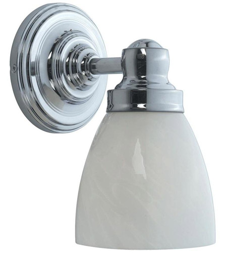 World Import Designs 8025-08 Troyes 1 Light 7 inch Chrome Bath Wall Sconce Wall Light photo