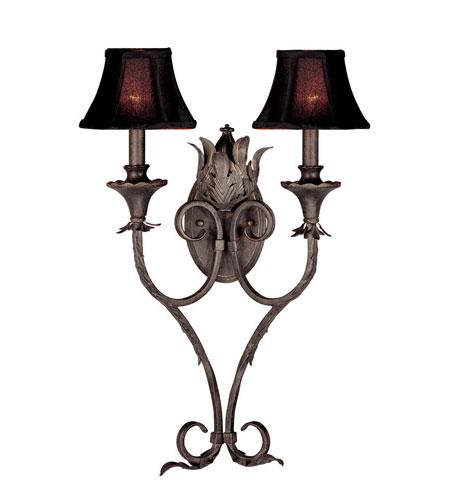 World Import Designs Pavia 2 Light Wall Sconce in Bronze 7262-89 photo