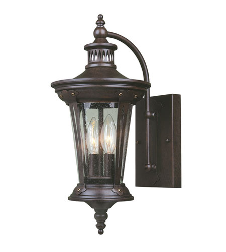 World Import Designs Northampton 2 Light Outdoor Wall Lantern in Bronze 74262-89 photo