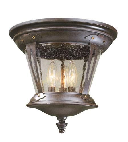 World Import Designs Northampton 3 Light Flush Mount in Bronze 74264-89 photo