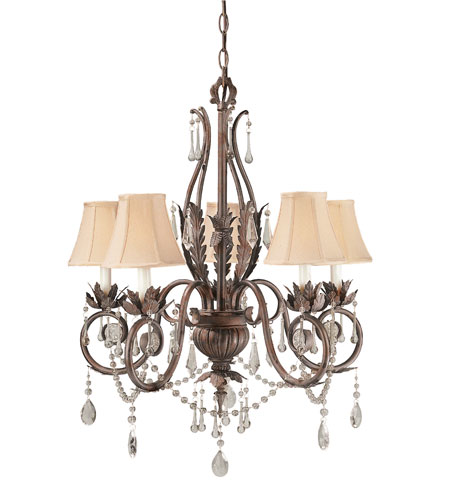 World Import Designs Berkeley Square 5 Light Chandelier in Weathered Bronze 751-62 photo