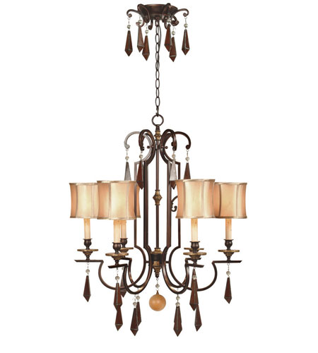 World Import Designs 7646-29 Turin 6 Light 27 inch Euro Bronze Chandelier Ceiling Light photo