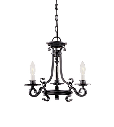 World Import Designs Cardiff 3 Light Chandelier in Rust 80004-42 photo
