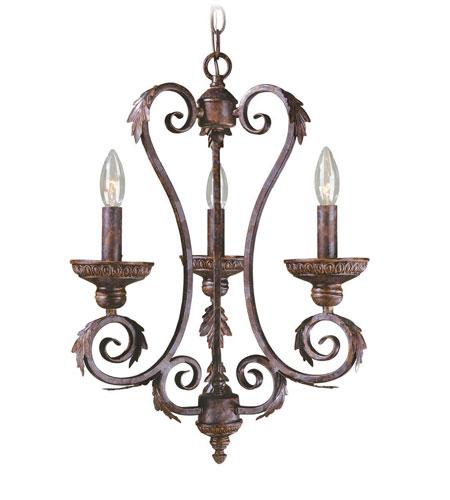 World Import Designs Medici 3 Light Chandelier in Oxide Bronze 81083-58 photo