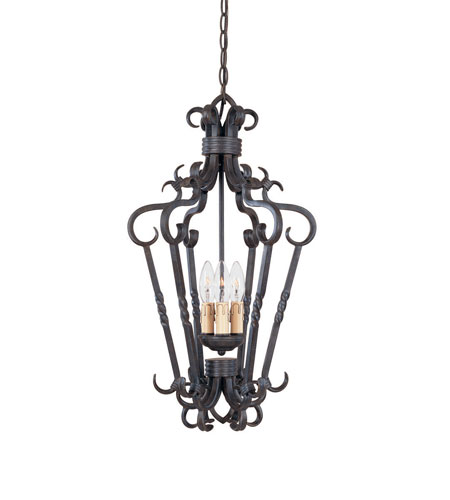 World Import Designs Bristol 3 Light Foyer in Antique Oak 8209-35 photo