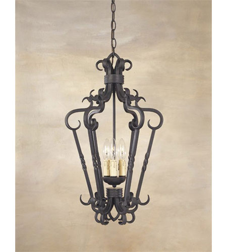 World Import Designs Bristol 3 Light Foyer in Rust 8209-42 photo