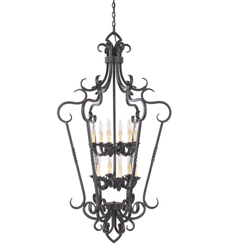 World Import Designs Bristol 12 Light Foyer in Rust 8218-42 photo