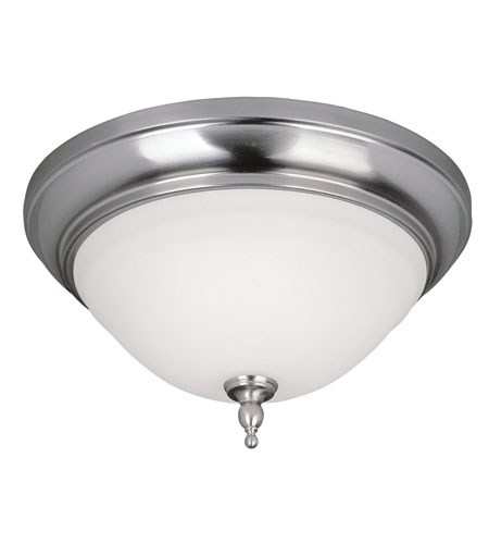 World Import Designs Montpellier 2 Light Flush Mount in Satin Nickel 8385-02 photo