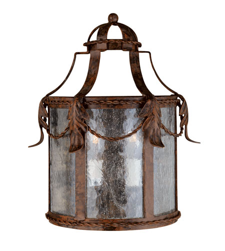 World Import Designs Medici 3 Light Outdoor Wall Lantern in Oxide Bronze 8412-58 photo