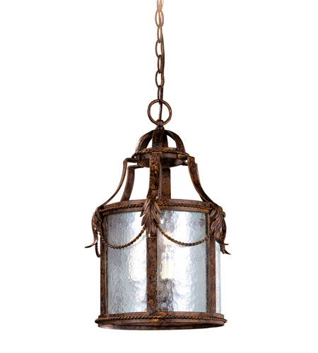 World Import Designs Medici 3 Light Foyer in Oxide Bronze 8414-58 photo