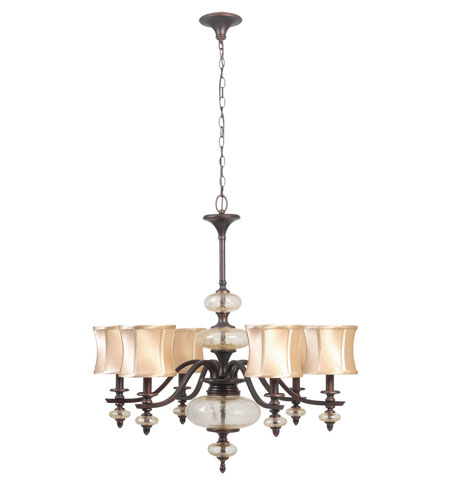 World Import Designs Chambord 6 Light Chandelier in Weathered Bronze 8546-56 photo