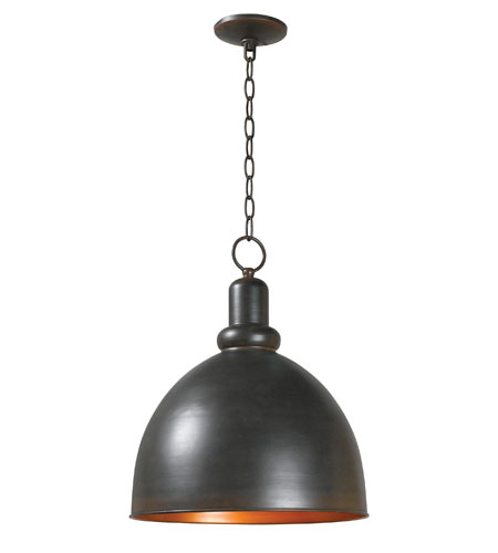 World Import Designs Loft 1 Light Pendant in Rust 9311-42 photo