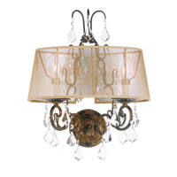 World Import Designs Belle Marie 2 Light Wall Sconce in Anitque Gold 1962-90