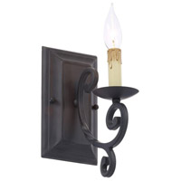 Rennes 1 Light 5 inch Rust Wall Sconce Wall Light