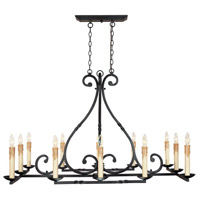 Rennes 12 Light 46 inch Rust Chandelier Ceiling Light