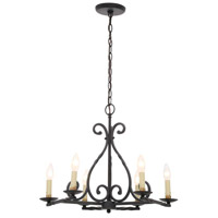 Rennes 6 Light 23 inch Rust Chandelier Ceiling Light