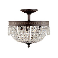 World Import Designs Crystal Elegance 3 Light Flush Mount in Flemish 2373-06