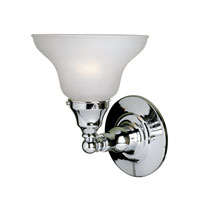 World Import Designs Asten 1 Light Bath Light in Chrome 2601-08