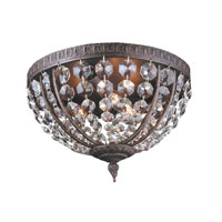 World Import Designs Crystal Elegance 3 Light Flush Mount in Flemish 2606-06