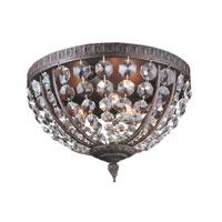 World Import Designs Crystal Elegance 3 Light Flush Mount in Flemish 2606-06 photo thumbnail