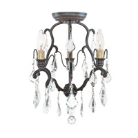 World Import Designs Timeless Elegance 3 Light Flush Mount in Bronze 2613-89