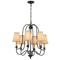World Import Designs 3746-34 Brondy 6 Light 25 inch Aged Ebony Chandelier Ceiling Light photo thumbnail