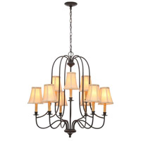 Brondy 9 Light 31 inch Aged Ebony Chandelier Ceiling Light