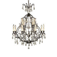 World Import Designs Timeless Elegance 12 Light Chandelier in Bronze 2614-89
