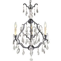 World Import Designs Timeless Elegance 3 Light Chandelier in Bronze 2615-89
