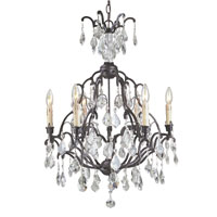 World Import Designs Timeless Elegance 6 Light Chandelier in Bronze 2616-89