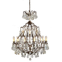 World Import Designs Timeless Elegance 18 Light Chandelier in Bronze 2617-89