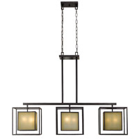 Hilden 9 Light 53 inch Aged Bronze Island Pendant Ceiling Light