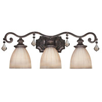 Avila 3 Light 26 inch Bronze Bath Bar Wall Light