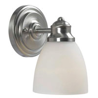 Gabriella 1 Light 5 inch Satin Nickel Bath Light Wall Light