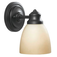 World Import Designs 3421-88 Gabriella 1 Light 5 inch Oiled Rubbed Bronze Bath Light Wall Light photo thumbnail