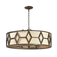 World Import Designs Decatur 5 Light Pendant in Rust 3505-42