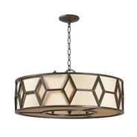 World Import Designs Decatur 5 Light Pendant in Rust 3505-42 photo thumbnail