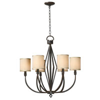 World Import Designs Decatur 6 Light Chandelier in Rust 3506-42