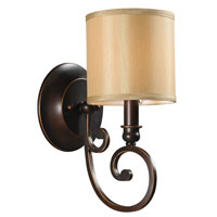 World Import Designs Rue Maison 1 Light Wall Sconce in Euro Bronze 3511-29