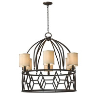 Decatur 6 Light 32 inch Rust Chandelier Ceiling Light