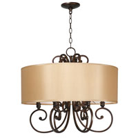 World Import Designs Rue Maison 6 Light Chandelier in Euro Bronze 3526-29