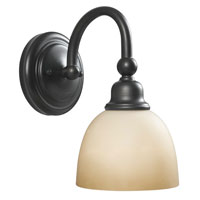 World Import Designs Amelia 1 Light Bath Light in Oiled Rubbed Bronze 3531-88