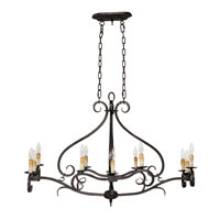 World Import Designs Chelton 12 Light Island Light in Aged Iron 3629-32