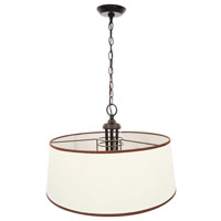 Brisbane 6 Light 20 inch Euro Bronze Mini Pendant Ceiling Light