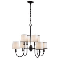 Brisbane 8 Light 21 inch Euro Bronze Chandelier Ceiling Light
