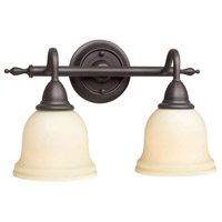 Montpellier 2 Light 14 inch Oil Rubbed Bronze Bath Bar Wall Light