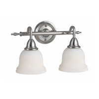 Montpellier 2 Light 14 inch Satin Nickel Bath Bar Wall Light